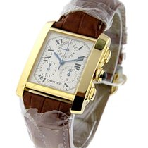 Cartier W5000556 Tank Francaise Chronograph in Yellow Gold -...