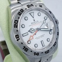 Rolex Explorer II 216570 Stainless Steel White Dial Date 42mm...