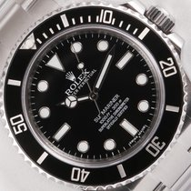 Rolex Submariner Black Ceramic 114060 Stainless Steel No Date...