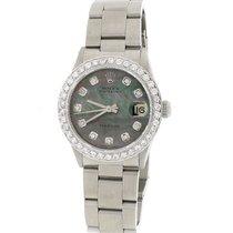 Rolex Oyster Date 31mm Womens 6466 w/Tahitian MOP Diamond Dial...