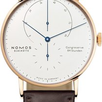 NOMOS Rose gold Manual winding White 42mm new Lambda