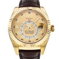 Rolex Sky-Dweller Oro amarillo 42mm Champán Arábigos