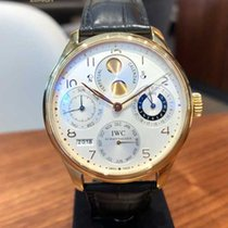 IWC Yellow gold Automatic pre-owned Portuguese Perpetual Calendar