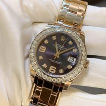 Rolex Pearlmaster Rose gold 39mm Purple