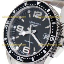 Longines HydroConquest L3.340.4.56.6 Longines Hydroconquest Quarzo Acciaio Nero 34mm Nero Bracciale Acciaio 2020 nowość