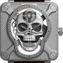 Bell & Ross BR 01 new Manual winding Watch with original box BR-01-LAUGHING-SKULL