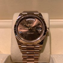 Rolex Day-Date 40 Or rouge 40mm Brun Romain
