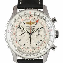 Breitling Navitimer GMT pre-owned 48mm Champagne Chronograph Date Leather