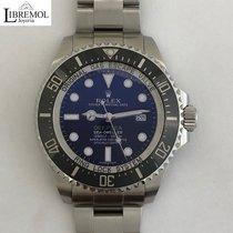Rolex Sea-Dweller Deepsea Stal 44mm Czarny Bez cyfr