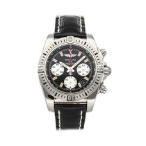 Breitling Chronomat 41 pre-owned 41mm Black Chronograph Date Crocodile skin