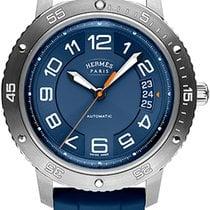 Hermès Clipper Tytan 41mm Niebieski