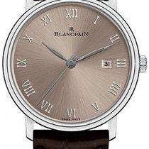 Blancpain Villeret Ultraflach neu 2020 Automatik Uhr mit Original-Box und Original-Papieren 6651-1504-55