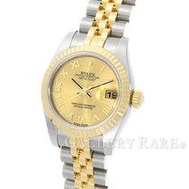 ロレックス (Rolex) Datejust Champagne Dial Yellow Gold Steel 26MM...