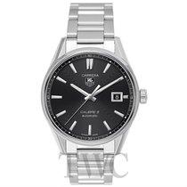 TAG Heuer Carrera Calibre 5 Automatic Watch Black Steel 39mm