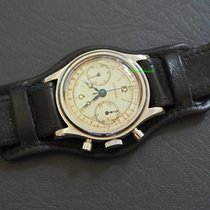 Longines vintage Chronograph 13ZN / 1942 -Stahl/Leder Ref.:...