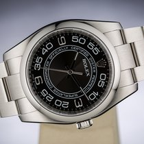 Rolex OYSTER PERPETUAL NO DATE CHRONOMETER BLACK DIAL 36MM 116000