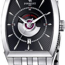 Perrelet new Automatic 35.5mm Steel Sapphire crystal