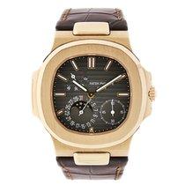 Patek Philippe Nautilus  Moon Phase 18K Rose Gold Watch...