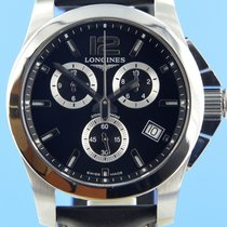 Longines Conquest Zeljezo 42mm Crn