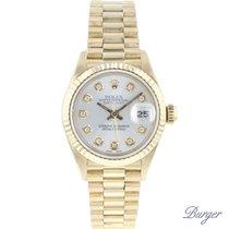 Rolex Lady-Datejust Or jaune 26mm Argent