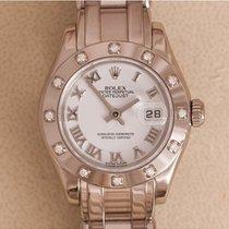 Rolex Lady-Datejust Pearlmaster Witgoud 29mm Wit Romeins Nederland, Amstelveen