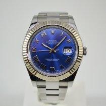 Rolex Datejust II Staal 41mm Blauw Romeins Nederland, Franeker