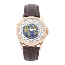 Patek Philippe World Time Rose gold 39.5mm Silver No numerals United States of America, Pennsylvania, Bala Cynwyd