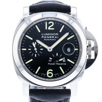 Panerai Luminor Power Reserve pre-owned 44mm Black Date Leather