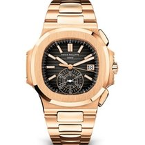 Patek Philippe Nautilus Rose gold 40mm Black No numerals