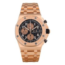 Audemars Piguet Royal Oak Offshore Chronograph Rosa guld 42mm Sort Arabertal
