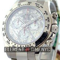 Rolex Daytona 18k White Gold Meteorite Dial 40mm