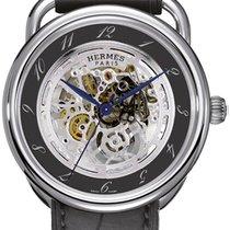 Hermès Arceau Stahl 41mm Grau