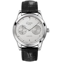 Glashütte Original Senator Hand Date Steel 40mm Silver United States of America, Pennsylvania, Holland