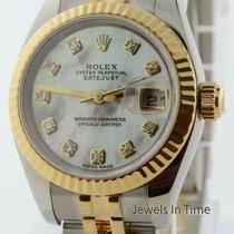 Rolex Ladies Datejust 18k Yellow Gold & Steel MOP Diamond...