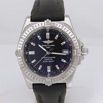 Breitling Callisto Swiss Stainless Steel Chronometer Black...