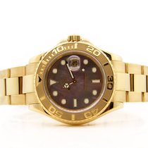 Rolex Yacht-Master Yellow gold 40mm White No numerals