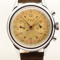 Invicta Chronograaf 38mm Handopwind tweedehands Zilver