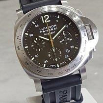 Panerai Luminor Chrono Steel 44mm Black Arabic numerals Singapore, Singapore