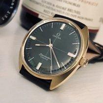 Omega Seamaster Mens vintage mechanical green dial watch + Box