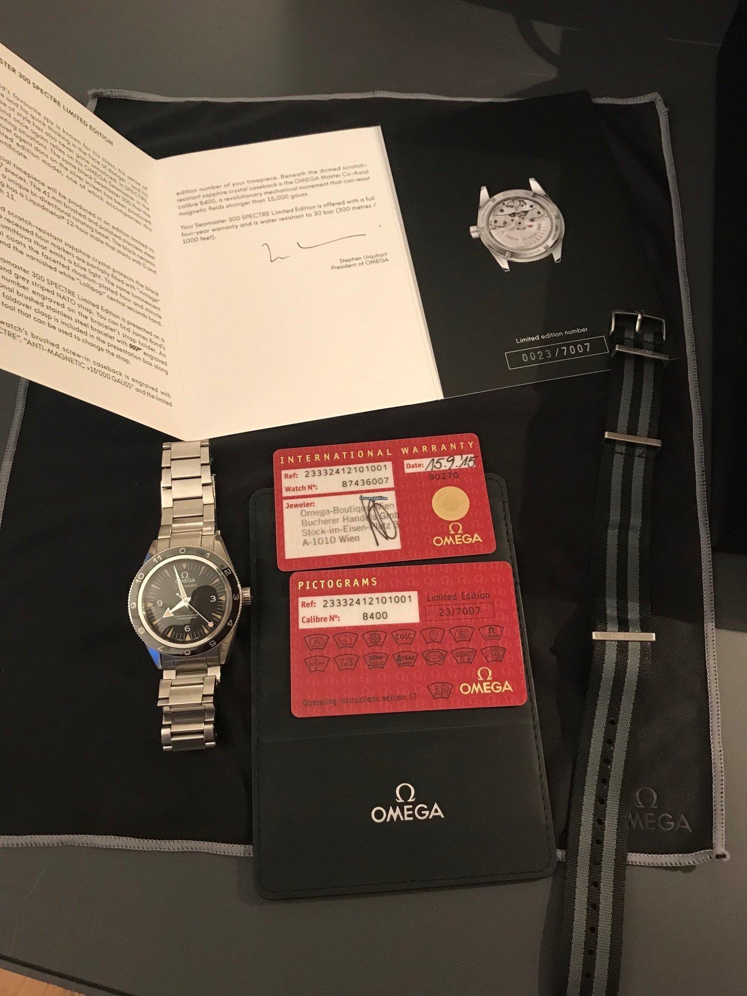 Omega Seamaster 300 SPECTRE (23 / 7007) for AU$ 11,632 for