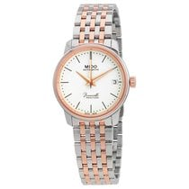Mido Baroncelli Steel 33mm Transparent No numerals