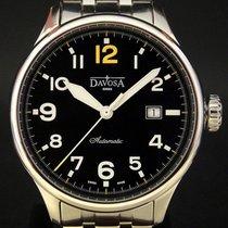 Davosa folosit Atomat 42mm Negru Sticlă de safir