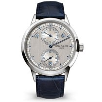 Patek Philippe Annual Calendar White gold 40.5mm Silver No numerals
