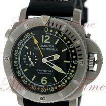 Panerai Luminor Submersible 1950 Depth Gauge Titanio 47mm Negro Arábigos