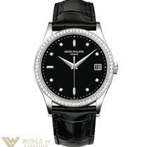 Patek Philippe Calatrava White Gold Diamonds 38mm Men's Watch