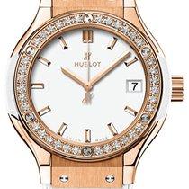 Hublot Classic Fusion Quartz King Gold White Diamonds 33mm