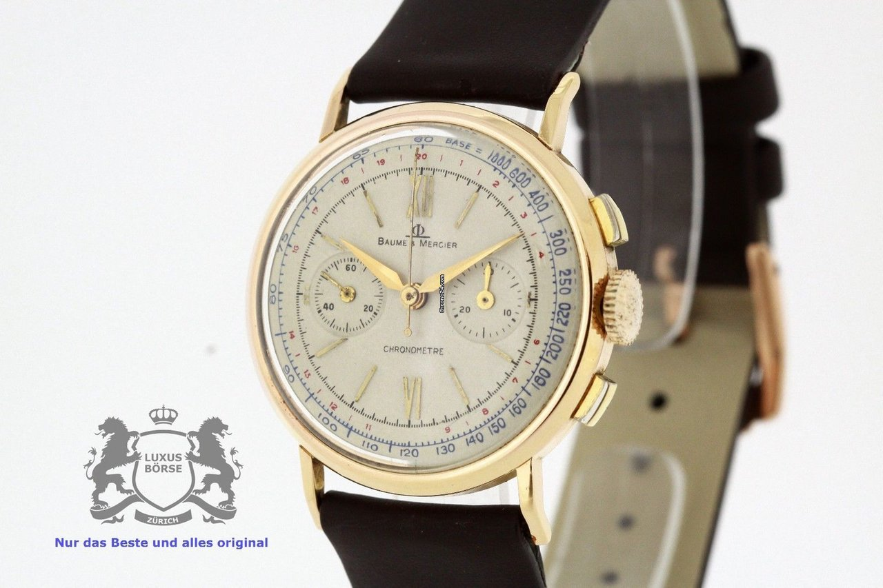 49718594dcfb88 Baume & Mercier 18K Rose Gold Chronograph Valjoux 69 Chronometre (2590)