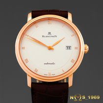 Blancpain Or rose 38 mm case exc.crownmm Remontage automatique 6223-3642-55b nouveau