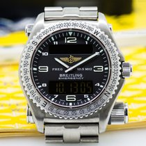 Breitling E56321/B279 Emergency Black Dial Titanium FULL SET...