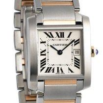 Cartier Tank Française Midsize Silver Dial 18K Gold & Steel...